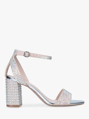 Carvela Kianni Stud Jewelled Block Heel Sandals, Natural
