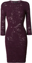 Versace Baroque lace knit dress - women - Polyester/Viscose - 38