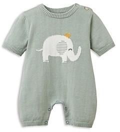 Elegant Baby Unisex Elephant Shortall - Baby