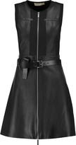 MICHAEL Michael Kors Belted leather mini dress