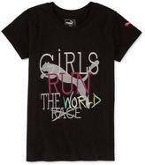 Puma Short-Sleeve Girls Run the World Tee - Preschool Girls 4-6x