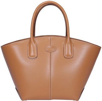 Tod's Logo Patch Small Tote Bag