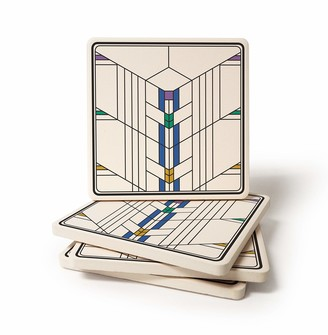 CoasterStone Absorbent Coaster Drinks Frank Lloyd Wright Ennis Windows II 4.25 Inches Wide
