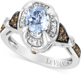 LeVian Le Vian Chocolatier® Sea Blue Aquamarine® (5/8 ct. t.w.) & Diamond (1/5 ct. t.w.) Ring in 14k White Gold