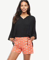 Ann Taylor Petite Orange Blossom City Shorts