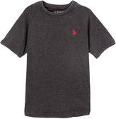U.S. Polo Assn. Black Heather Logo Crewneck Tee - Toddler & Boys