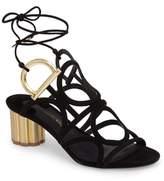 Salvatore Ferragamo Strappy Block Heel Sandal