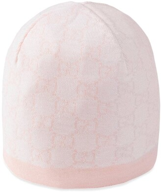 Gucci Kids Baby GG pattern wool hat