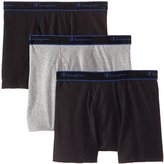 Champion Men's 3 Pack Performance Cotton Short Leg Boxer Briefs