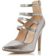 Dorothy Perkins Womens *Head Over Heels by Dune 'Alora' Grey High Heeled Shoes- Grey