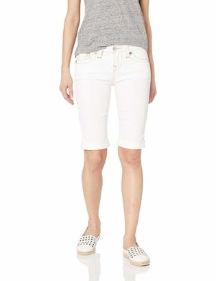 True Religion Women's Riley Knee Short OM Contour