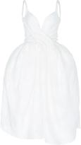 Paule Ka Jacquard Twist Front Tulip Dress