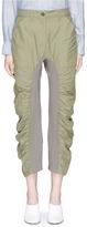 Stella McCartney 'Tina' rib knit panel cropped pants