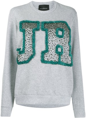 John Richmond Binga rhinestone logo sweatshirt