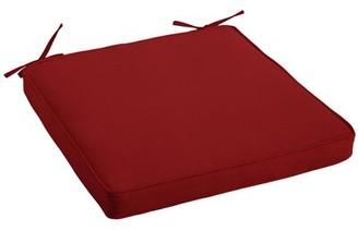 "Jockey Alcott Hill Canvas Indoor/Outdoor Sunbrella Dining Chair Cushion Alcott Hill Fabric Red, Size: 2"" H x 19"" W x 19"" D"