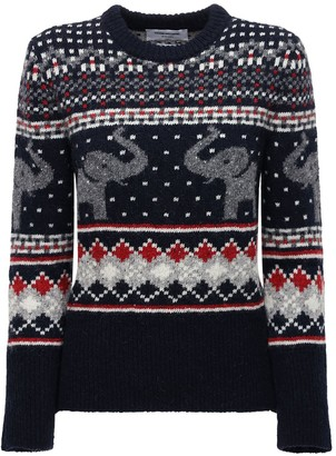 Thom Browne Wool & Mohair Knit Sweater