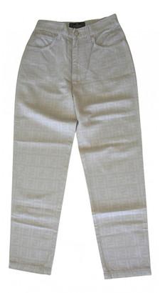Fendi Grey Cotton Jeans