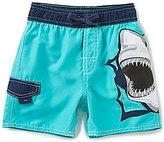 First Wave Little Boys 2T-7 Shark-Applique Swim Trunks