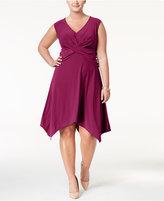Love Squared Trendy Plus Size Handkerchief-Hem Dress