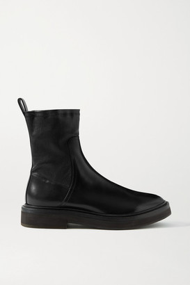 Brunello Cucinelli Bead-embellished Leather Ankle Boots - Black
