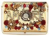 Dolce & Gabbana Virna Amore Embellished Box Clutch