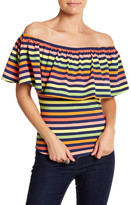 VAVA by Joy Han Off-the-Shoulder Rollipop Shirt