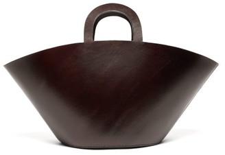 LAUREN MANOOGIAN Barcelona Leather Tote Bag - Dark Brown