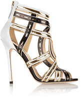 Brian Atwood Marva chain-embellished leather sandals