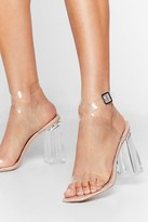 Nasty Gal Womens Let's Be Clear Patent Faux Leather Heels - Beige - 3