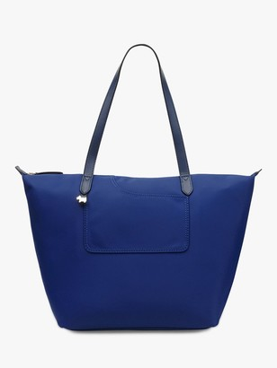 Radley Pocket Essentials Fabric Large Zip Top Tote Bag, Sapphire