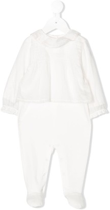 Christian Dior Lace-Trim Cotton Pajamas