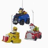 Kurt Adler 3 Assorted Paw Patrol Characters on Trucks ples Christmas Ornaments