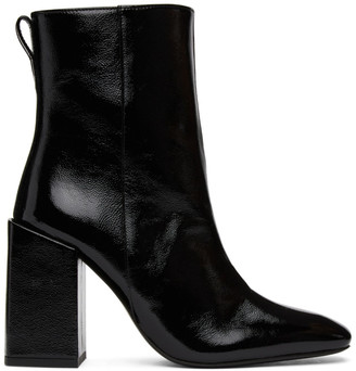 Ami Alexandre Mattiussi Black Heeled Ankle Boots