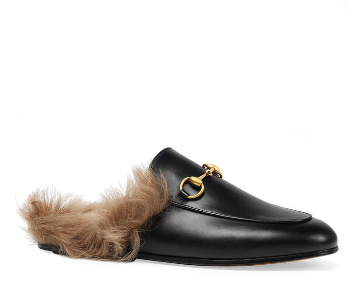 c6c74df95 Gucci Mules With Fur - ShopStyle