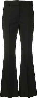 MSGM Mid-Rise Flared Trousers