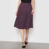 Anne Weyburn Printed Box Pleat Skirt