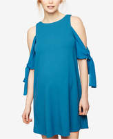 Taylor Maternity Cold-Shoulder Shift Dress