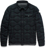 Moncler Nambour Black Watch Checked Wool Down Shirt Jacket