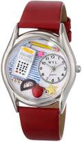 Whimsical Watches Women's S0640011 Math Teacher Red Leather Watch