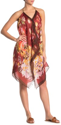 Pool' Pool To Party Floral Halter Cover-Up Dress