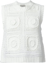 Sea cropped knitted tank - women - Cotton - S
