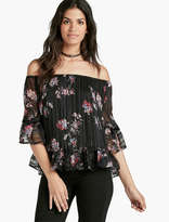 Lucky Brand Off The Shoulder Floral Peasant