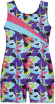 Jacques Moret Jacques Mort Sleeveless Spotted Strokes Printed Biketard - Girls