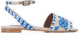 Tabitha Simmons Petal Festival sandals - women - Leather/Canvas - 37