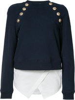 Derek Lam 10 Crosby buttoned sweatshirt - women - Cotton/Acrylic - 0