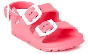 First Steps by Stepping Stones First Walker Buckle EVA Footbed Slide Sandal (Infant Girls)