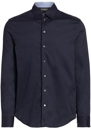 Emporio Armani Solid Sport Shirt