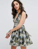 Free People Daydreamin Printed Mini Dress