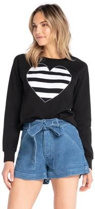 Synergy Heart Applique Sweatshirt - Tiburon
