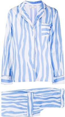 Chinti and Parker Painted Stripe Pyjama Set